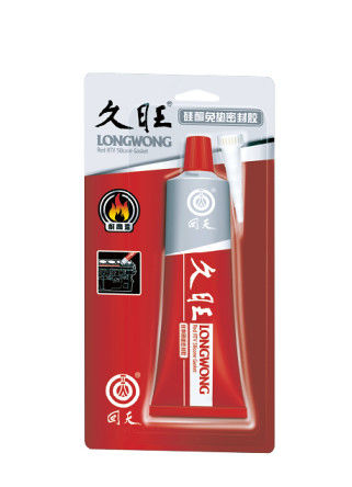Red Long Wong Gasket Maker oil resistant rtv silicone sealant temperature resistance
